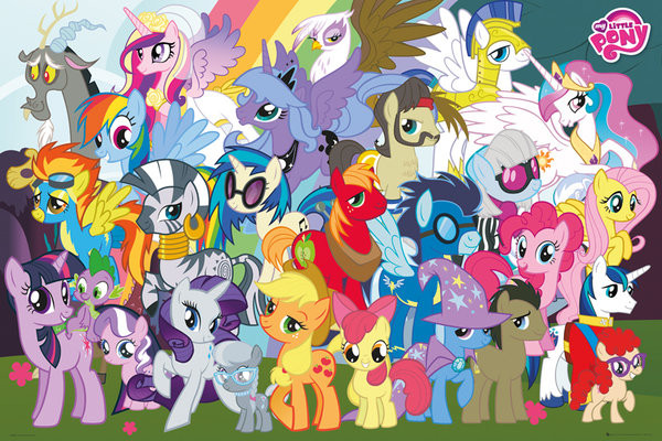 Plagát My Little Pony - Characters