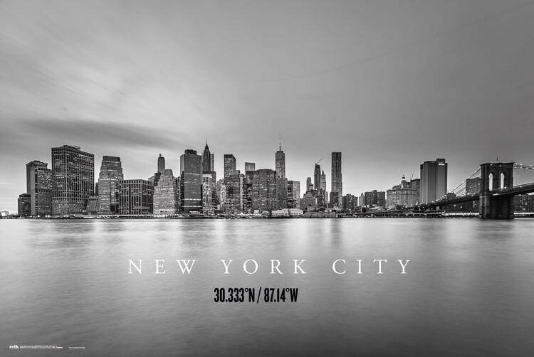 Plagát New York City Skyline