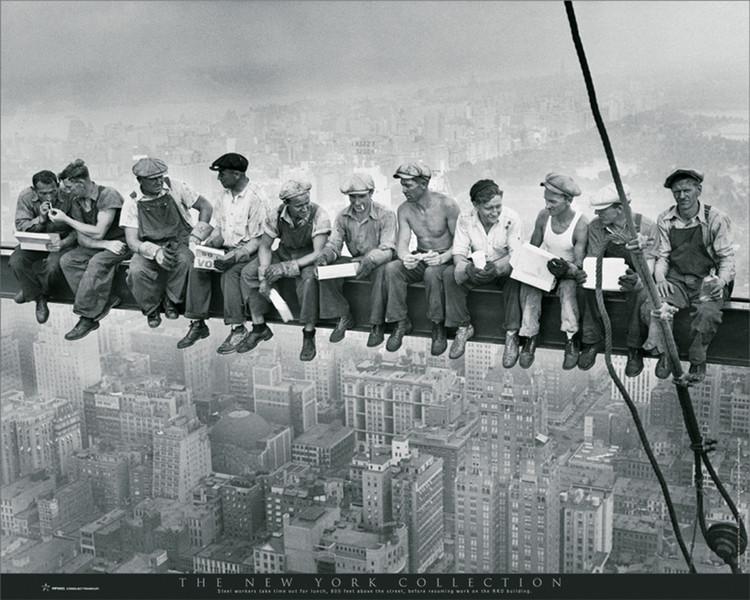 Plagát New York - men on girder