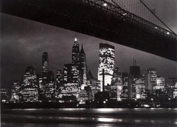 Plagát New York night - skyline