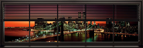 Plagát New York - windows blinds