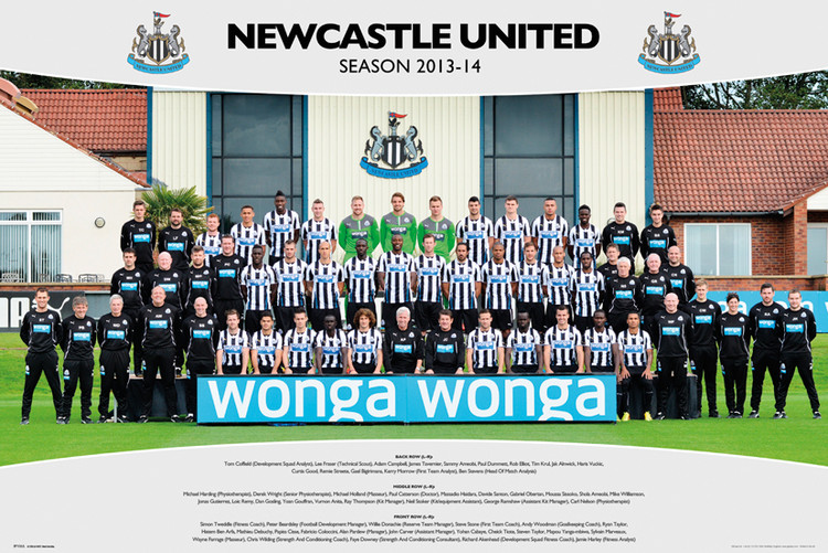 Plagát Newcastle United FC - Team Photo 13/14