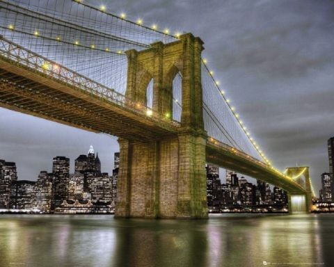 Plagát NY Brooklyn bridge 2