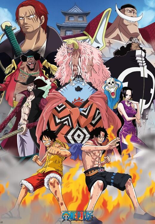 Plagát One Piece - Marine Ford
