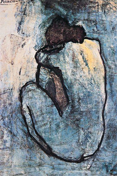 Plagát Pablo Picasso - modrý akt 1902