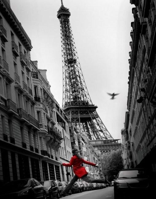 Plagát Paríž - la veste rouge
