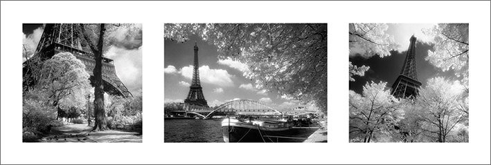 Plagát Paríž triptych - noton