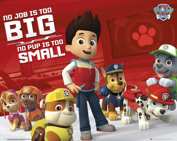 Plagát Paw Patrol - No Job Too Big
