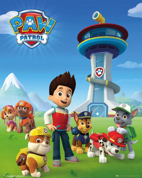 Plagát Paw Patrol - Team