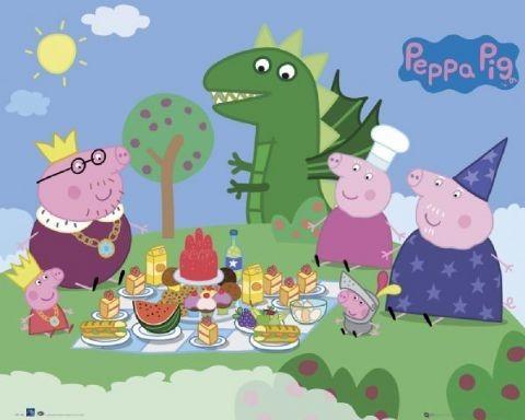 Plagát PEPPA PIG - picnic