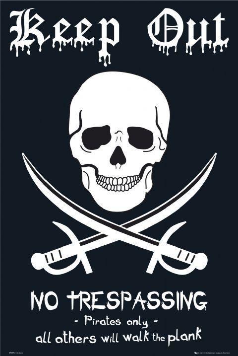 Plagát Pirates - keep out