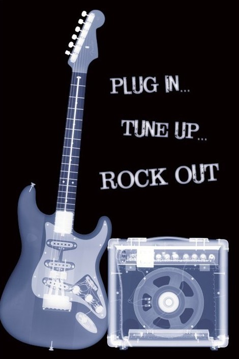 Plagát Plug in, Tune up, Rock out