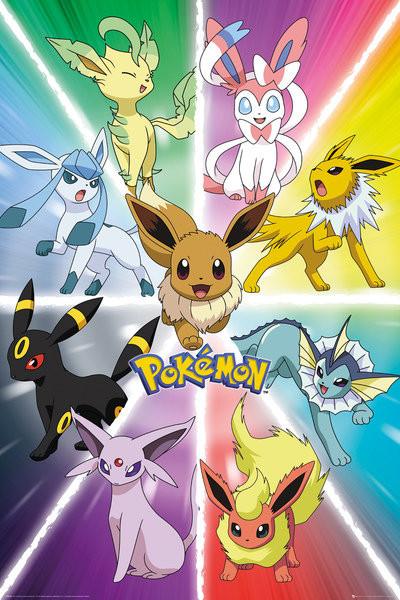Plagát Pokemon - Eevee Evolution