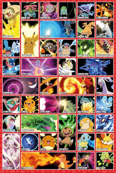 Plagát Pokémon - moves