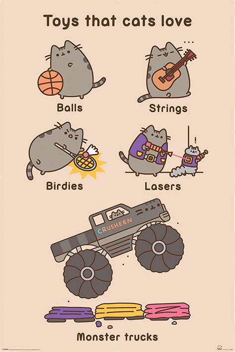 Plagát Pusheen - Toys for Cats