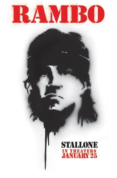 Plagát RAMBO 4 - spray paint