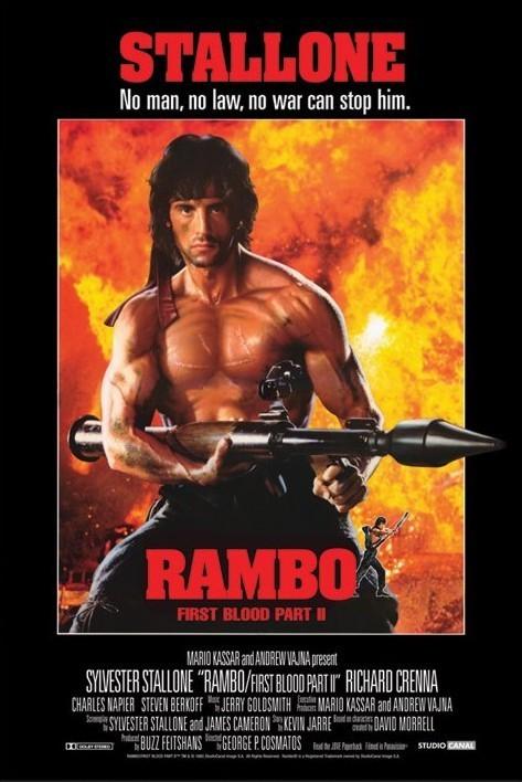 Plagát RAMBO - first blood part 2