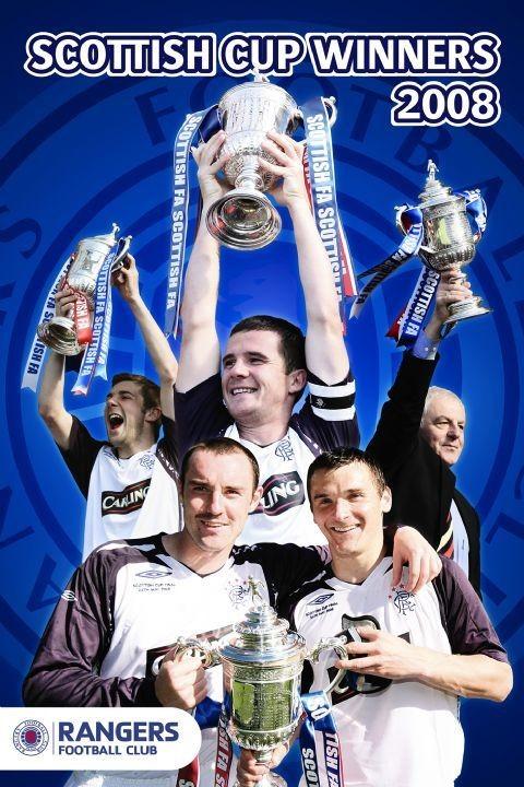 Plagát  Rangers - cup winners 07/08