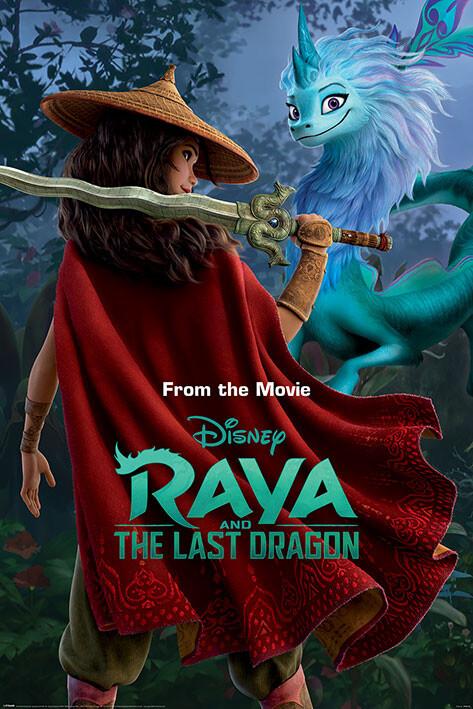 Plagát Raya and the Last Dragon - Warrior in the Wild