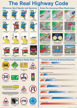 Plagát Real highway code