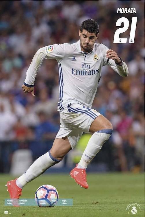 Plagát Real Madrid 2016/2017 -  Álvaro Morata