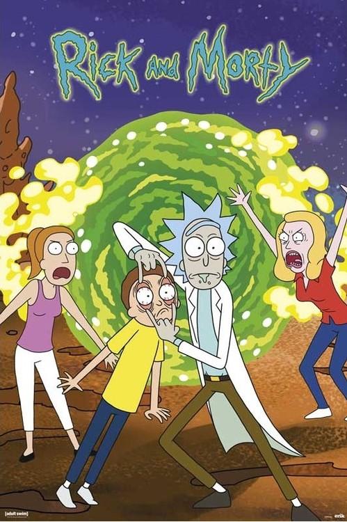 Plagát Rick & Morty - Portal