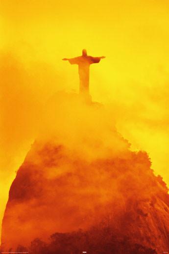 Plagát Rio de Janeiro - christ the redeemer