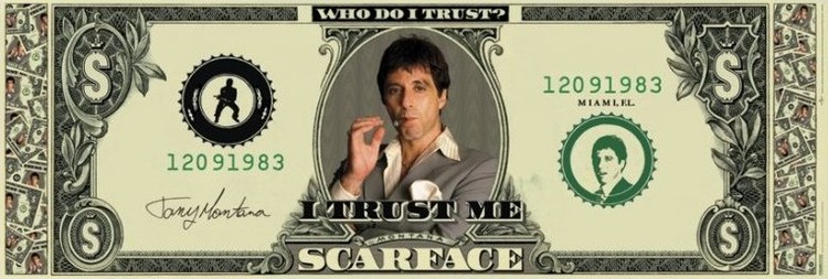 Plagát SCARFACE - dollar