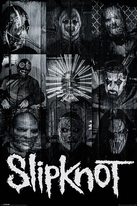 Plagát Slipknot - Masks