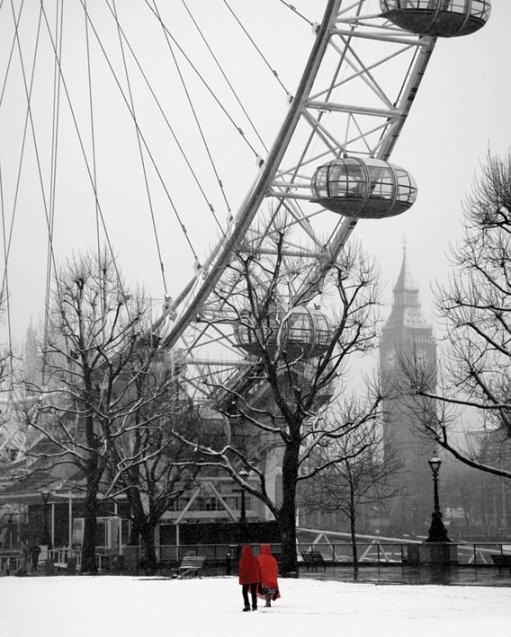 Plagát Snow on the south bank