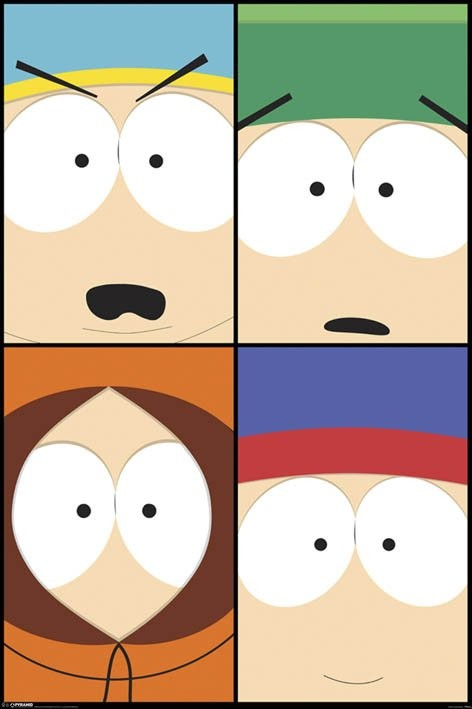 Plagát SOUTH PARK - close up