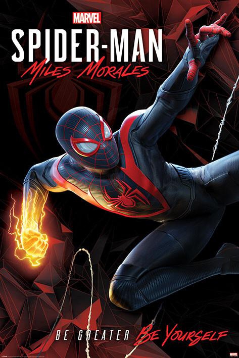 Plagát Spider-Man Miles Morales - Cybernetic Swing