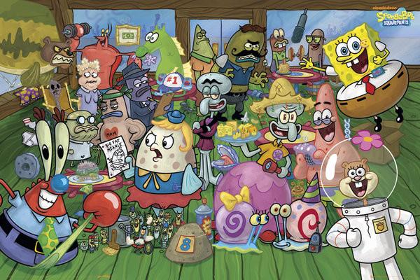 Plagát SPONGEBOB - characters
