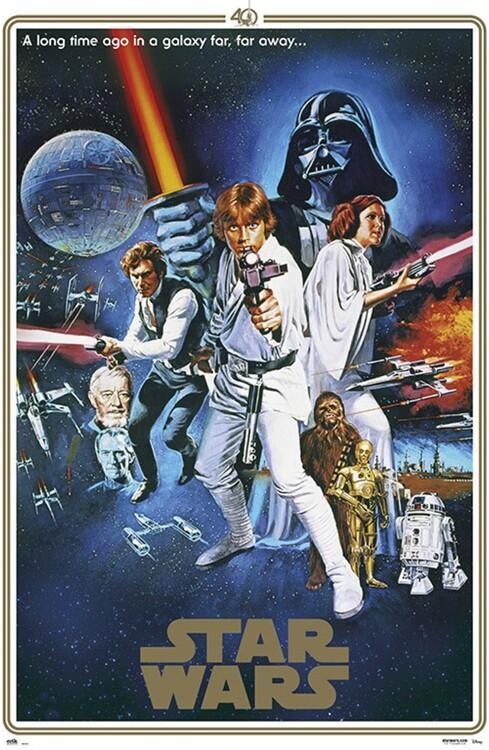 Plagát Star Wars - 40th Anniversary One Sheet