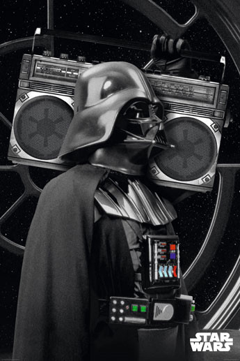 Plagát Star Wars - darth vader boombo