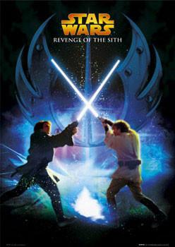 Plagát STAR WARS - Jedi battle