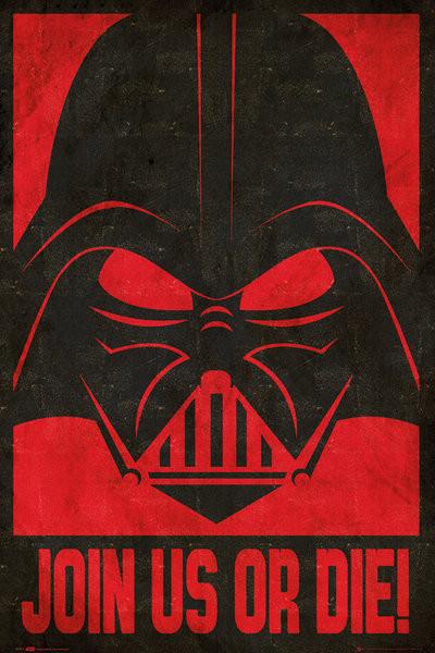 Plagát STAR WARS - join us stencil