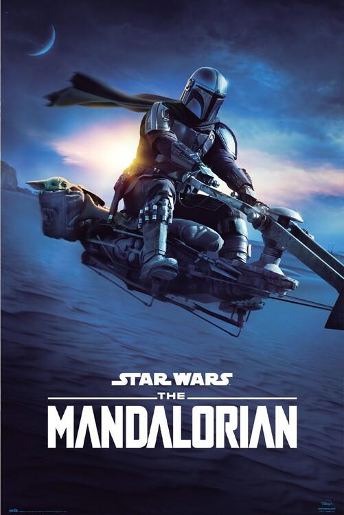 Plagát Star Wars: The Mandalorian - Speeder Bike 2