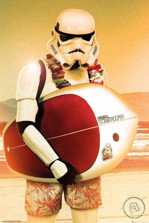 Plagát  Stormtrooper - Surf