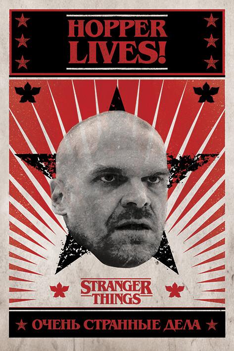 Plagát Stranger Things - Hopper Lives