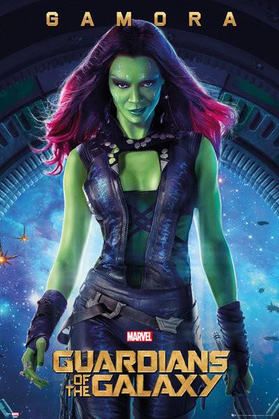 Plagát Strážcovia Galaxie - Gamora