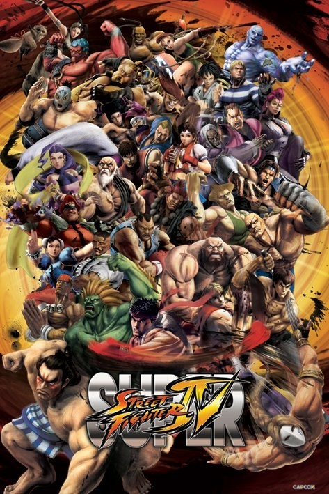 Plagát Super street fighter IV.