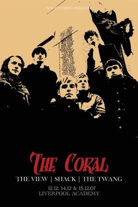 Plagát the Coral - tour