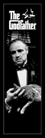 Plagát The Godfather - cat black and white