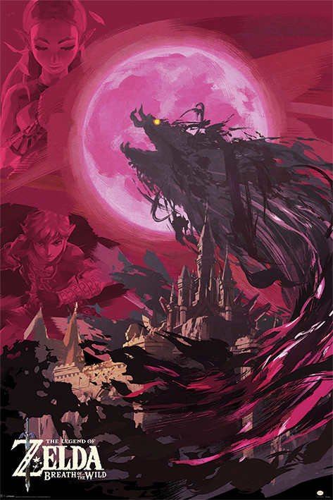 Plagát  The Legend Of Zelda: Breath Of The Wild - Ganon Blood Moon