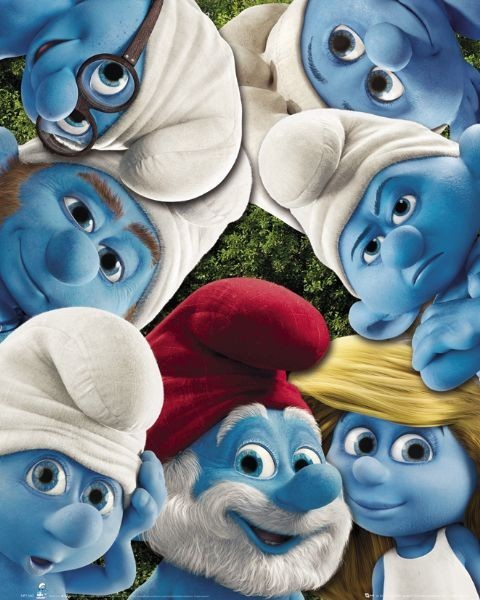 Plagát THE SMURFS - group