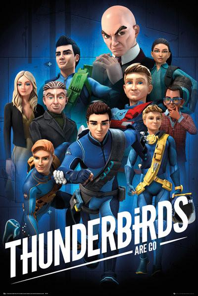Plagát Thunderbirds - Are Go - Collage