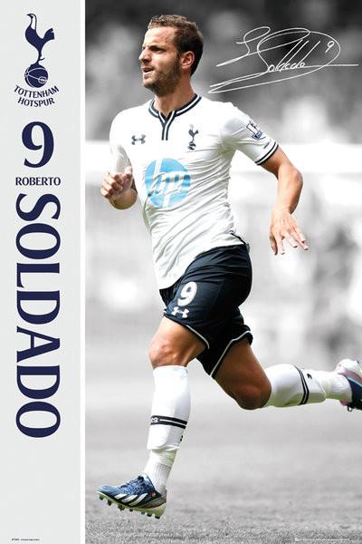 Plagát Tottenham Hotspur FC - Soldado 13/14