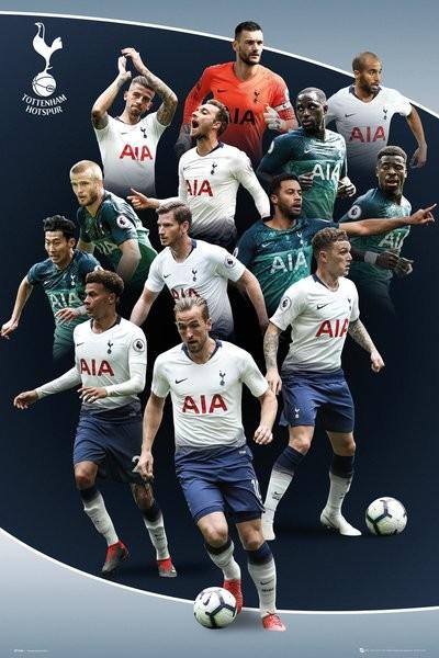 Plagát  Tottenham Hotspur - Players 18-19