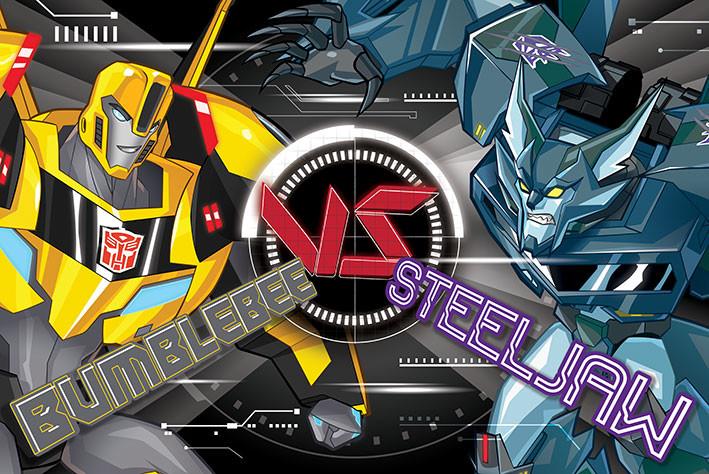 Plagát Transformers: Robots in Disguise - Bb Vs Steeljaw